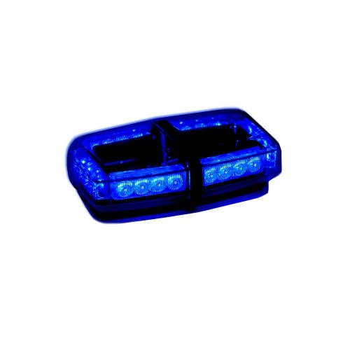 Blue led mini light bar watt roof strobe mini lightbar aloadofball Image collections