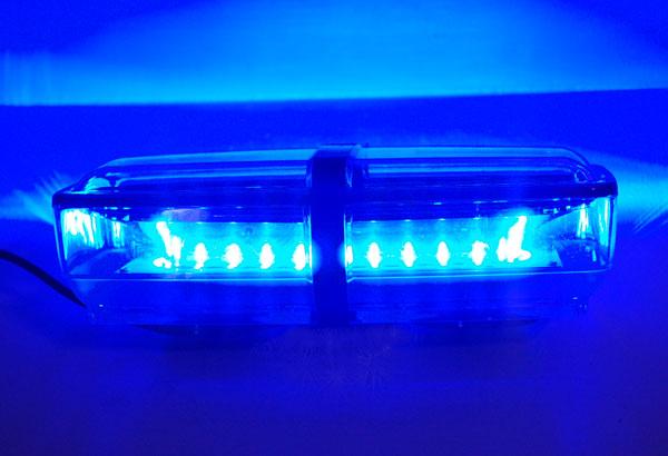 Blue led mini light bar 12 watt roof strobe mini lightbar aloadofball Image collections