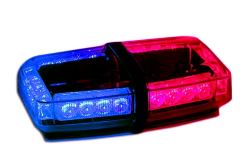 Red and blue led mini light bar 5 watt roof strobe mini lightbar aloadofball Image collections