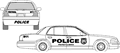11 Piece Police Decal Kit
